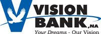 vision bank logo a part of graphic design