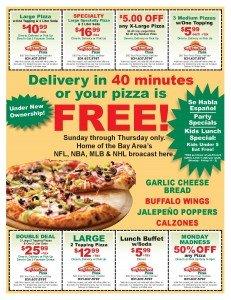 Pizza Restaurant Circular