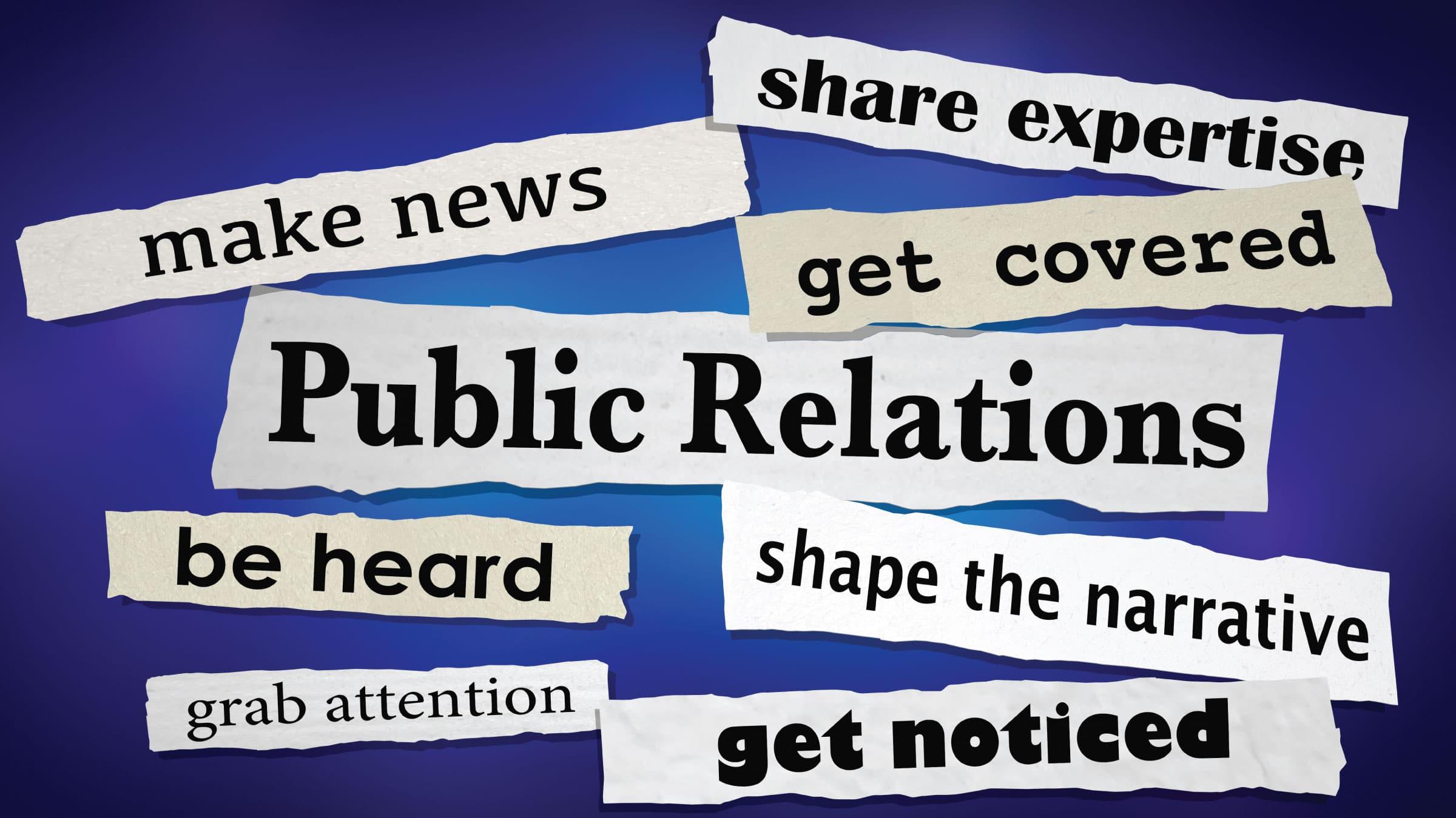 Public Relations Header